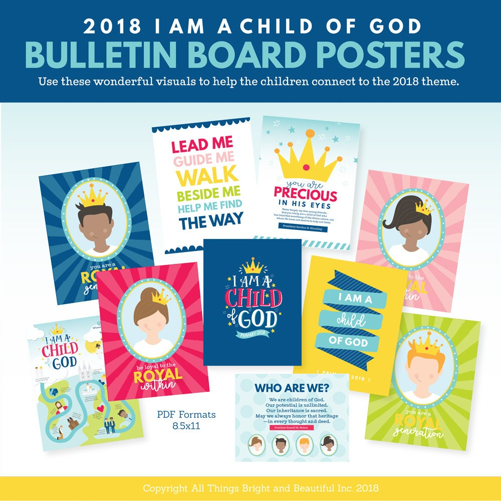 2018 lds primary theme bulletin board i am a child of god from