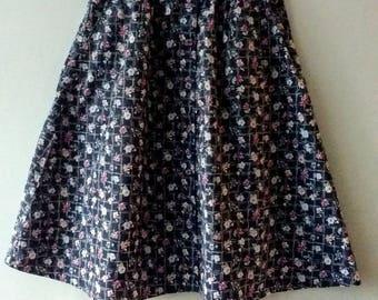 Adorable 1980s Laura Ashley style skirt