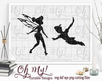 Tinkerbell & Peter Pan Svg Dxf Eps Png Cutting Files