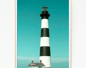 Lighthouse Print Beach Decor Coastal Vintage Photography Nautical Photo Wall Art Poster Modern Navy Sea Ocean Boat Hanging Minimalist 1012