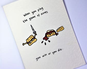 Game of Thrones: Game of Scones card