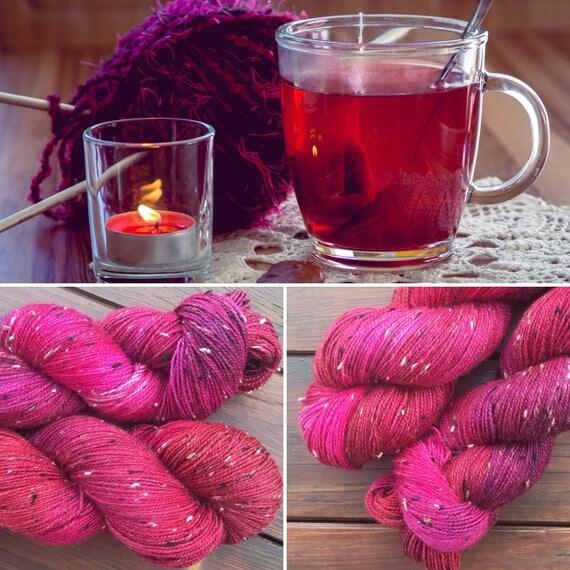 Mulled Wine Donegal Sock, 4ply merino indie dyed sock yarn