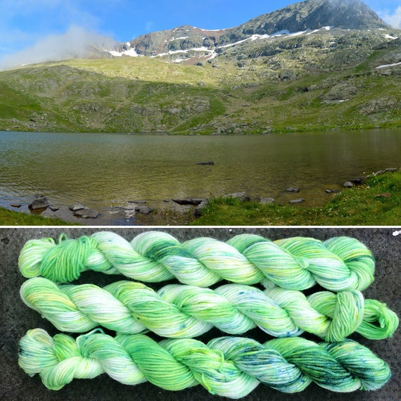 New Life Miniskein, 20g Spring theme merino nylon speckled sock yarn