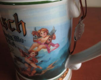 "Cherub Stein - Beer Steins - Anheuser Busch -  1992 - Germany - 8"" High - St. Louis - Check Out Entire Collection! Great Gift Idea"
