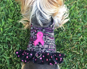 breast cancer awareness Dog Harness Customizable to your dogs measurements! Size  XXS XS Small