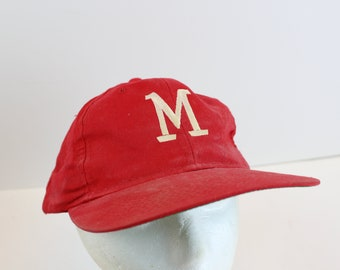 "Vintage ""M"" Logo hat cap marlboro baseball hat snap snapback 80s"