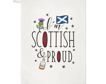 I'm Scottish And Proud Tea Towel Dish Cloth
