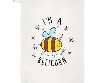I'm A Beeicorn Tea Towel Dish Cloth