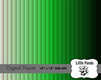 70% OFF SALE Shades of Green Digital Paper 24 jpg files 12 x 12 - Instant Download - D245