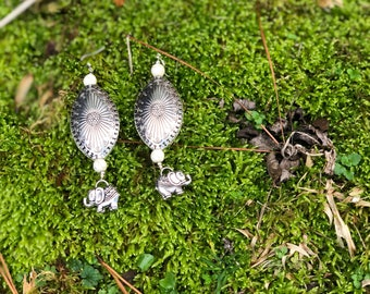 Elephant statement piece earrings