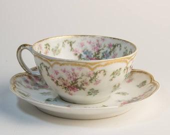 Haviland & Co. Limoges Schleiger 72  tea cup and saucer
