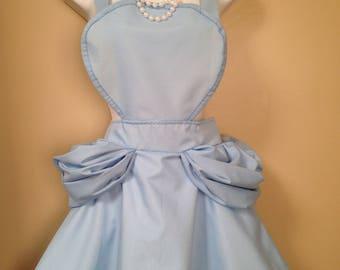Cinderella blue Disney inspired child Apron