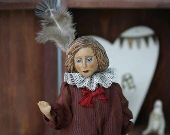 ooak bjd art doll wooden doll Little Artist