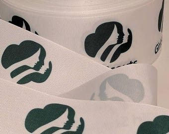 """MOVING SALE 3"""" GIRL Scout Organization Inspired Cheer Bow Grosgrain Hair Bow Craft Ribbon 3160"""