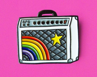 Rainbow Guitar Amp Pin