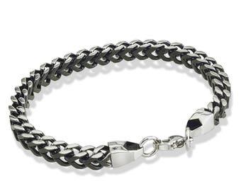 Black IP Steel Chain Bracelet
