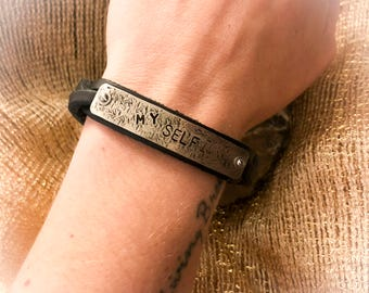 MY SELF Leather Cuff/Bracelet Inspiration for Women or Men