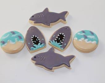 Shark Week Vanilla Sugar Cookies