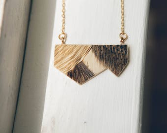 Wood-burned & Stained Necklace