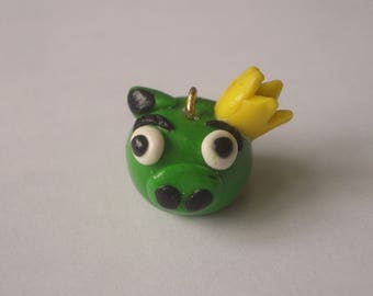 FANCY PIG ANGRY BIRDS POLYMER CLAY PENDANT