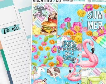 Pool Party Weekly Planner Kit for No-White Space and White Space Planners  - WK18