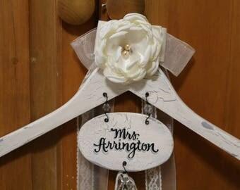 Personalized Wedding Dress Hanger-Wedding Dress Hanger-Personalized Bride Hanger-Wedding Hanger Personalized-Bride And Bridesmaid Hangers