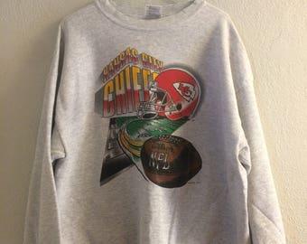 Vintage 1995 Kansas City Chiefs Sweatshirt XXL