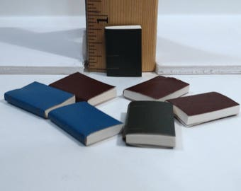 Dollhouse Miniatures - Books, Blank, Real Pages