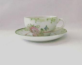 Oriental Mini Tea Cup & Saucer