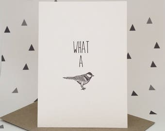 What a tit - greeting card - little dot creations