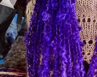 Gorgeous Intense Violet Kid Mohair Art Yarn.  62 yards, 5.6 ounces.