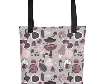 Mushrooms Pattern Design Tote bag