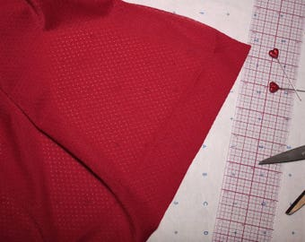 Red Lightweight Stretch Mesh Fabric 1 yard