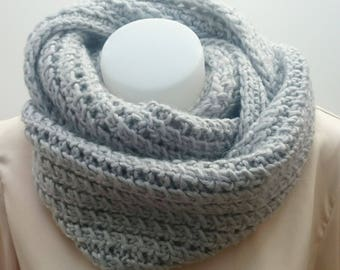 Echarpe tube, snood gris claire