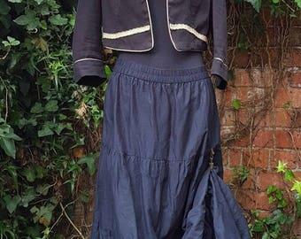 Steampunk Victorian Dand Pirate jacket size16 Gothic Whitby Vamp Braids sequin