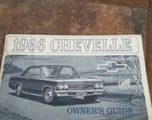 1966 Chevy Chevelle car manual owners guide