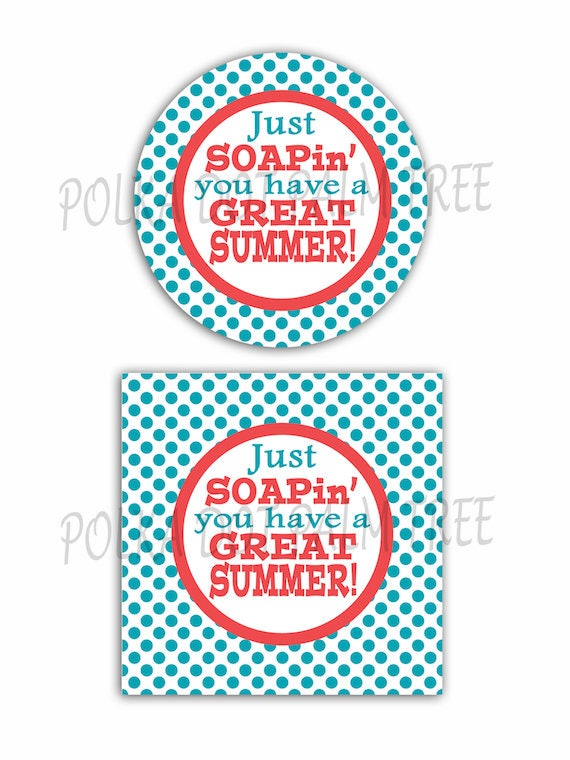 instant download diy printable polka dots just soapin you have a great summer soap gift tags end