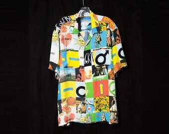 MOSCHINO 1990s men's opposites print shirt M