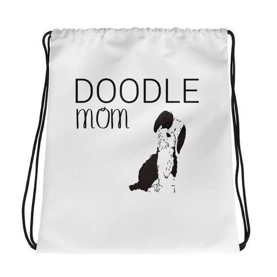 Custom Dog Drawstring bag