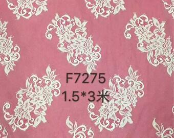 "Wedding dress lace ,Chantilly Lace ,eyelash Lace Fabric,flower pattern lace,off  White Chantilly Lace fabric 59"" width-7275"