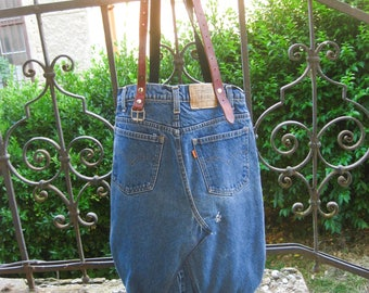 Recycled denim bag, shoulder bag, oversized bag, up cycled Levis jeans, recycled jeans tote, weekend bag, gym bag, jeans bag, yoga mat tote