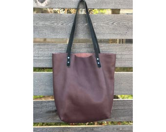 Limited Edition LARGE TOTE Purple • Leather Everyday Bag