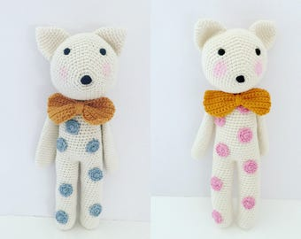 MADE TO ORDER Spotty Bear Teddy Bear Kids Toy Newborn Gift Baby Shower Gift Baby Toy Child Toy