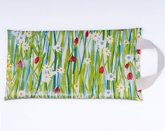Gardeners Kneeling Pad, Knee Protector, Garden Tool, Polka Dot Oilcloth, Gift for Her, Womens Gift