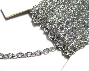 10 Ft 304 Stainless Steel Cross Chains Textured Chains 4mm ( NO. 903)