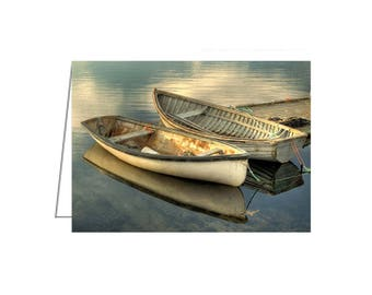 5 PACK - Two Boats, Peggy's Cove, Nova Scotia - Greeting Card