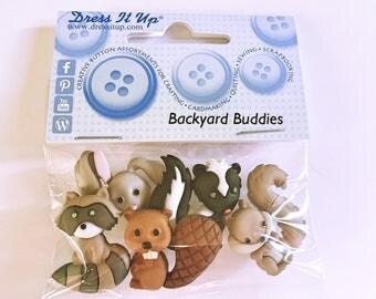 Dress It Up Backyard Buddies Buttons