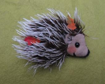Hedgehog mohair brooch,jewelry,jewelery, handmade, safety, wearable art ,brooch, pin, christmas gift,wool felt,