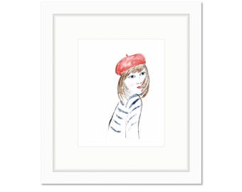 Portrait of a Madamoiselle -- Art Print -- Home Decor -- Live Colorfully