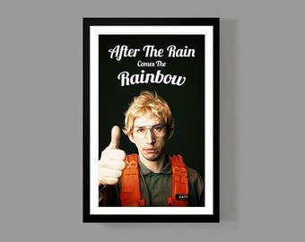 Star Wars: Kylo Ren Custom Poster - After The Rain Comes The Rainbow - Inspirational, Motivational, Funny, Quote